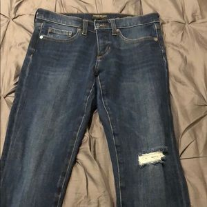 Banana Republic skinny jeans with frayed edge